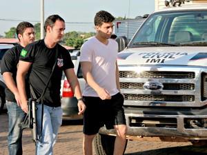 Roberto Guedes, filho do presidente da Assembleia Legislativa de RO, Hermínio Coelho, foi preso durante Operação Apocalipse (Foto: Vanessa Vasconcelos/G1)