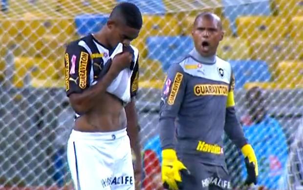 Zagueiro Dankler e goleiro Jefferson (Foto: Reprodução/SporTV)