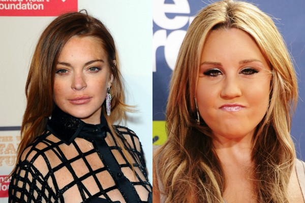 Lindsay Lohan x Amanda Bynes (Foto: Getty Images)