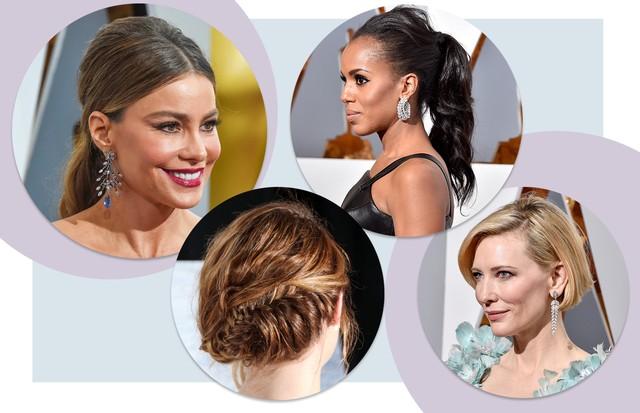 Penteados para madrinhas (Foto: Arte Vogue Online (com Getty Images))