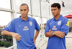 Miranda e Thiago Silva, seleção 2007 (Foto: CBF)