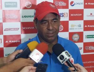 Carlos Moura interino América-RN (Foto: Jocaff Souza/GloboEsporte.com)