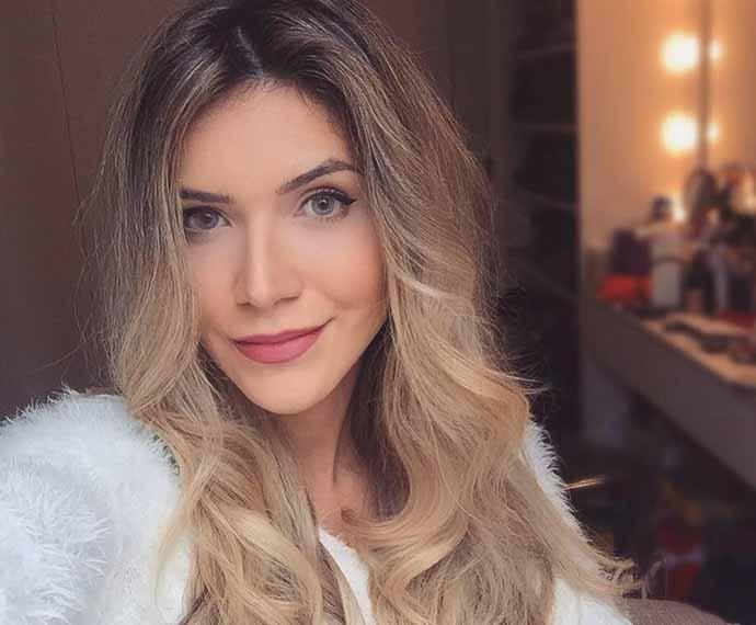 Blogueira paranaense Jessica Belcostfoi participa do É de Casa, no último sábado (22) (Foto: Reprodução/Redes Sociais)