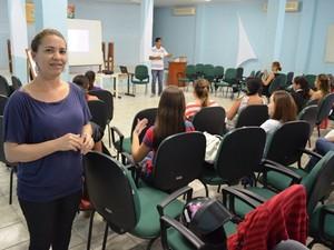 Olga, primeira intérprete de Kléber na faculdade (Foto: Hudson Pimentel/G1 RO)