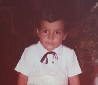 Marcelo Magno quando era criança (Foto: Arquivo pessoal)