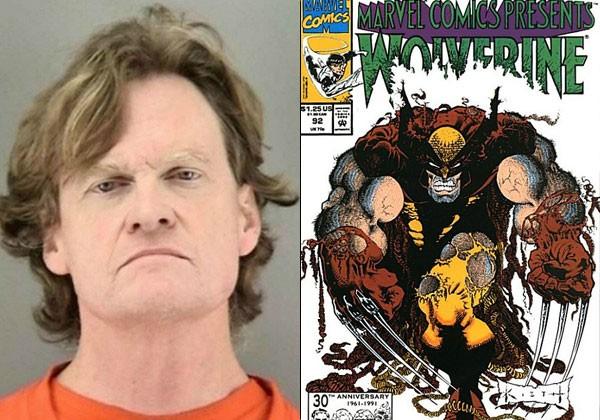 Gerard Jones e uma edição de Wolverine em que teve participação (Foto: Divulgação/ reprodução)