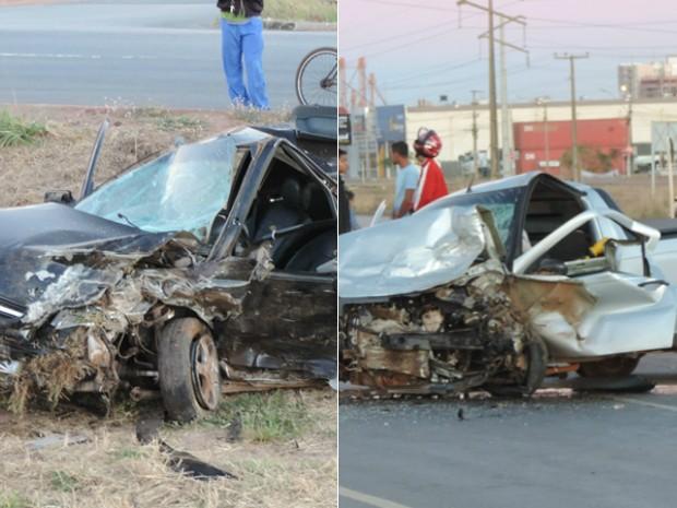Uma pessoa morreu e duas ficaram feridas no grave acidente (Foto: Arte/G1 Bahia)