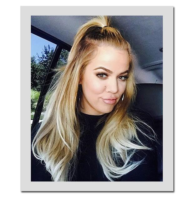 Khloé Kardashian é adepta fiel do top pony (Foto: Reprodução/ Instagram)