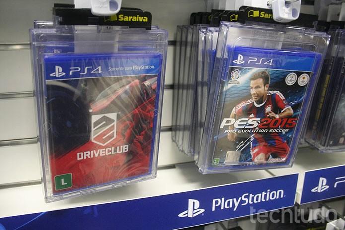 Jogos de PS4 se destacam no espaço PlayStation (Foto: Felipe Vinha/TechTudo)