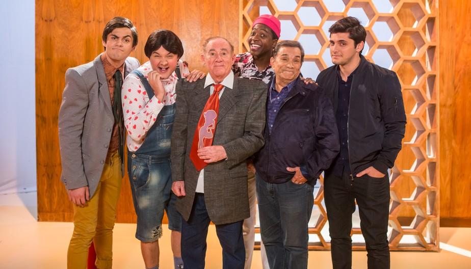 Bruno Gissoni, Lucas Veloso, Mumuzinho e Gui Santana são 'Os Trapalhões'