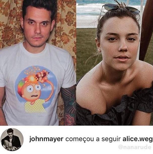 Alice Wegmann e John Mayer (Foto: Reprodução/Instagram)