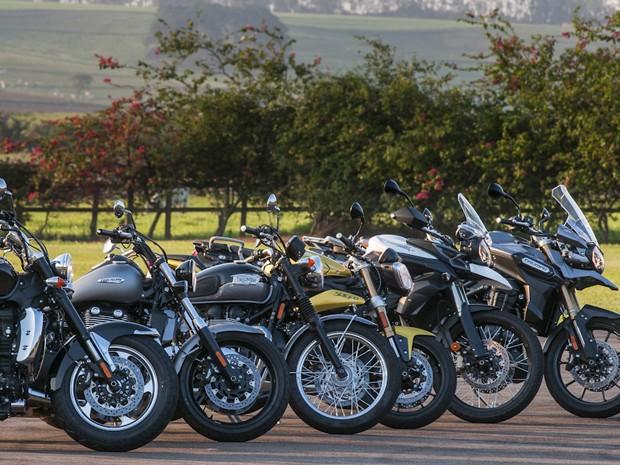 Triumph retorna ao Brasil com seis motos (Foto: Gustavo Epifanio/G1)
