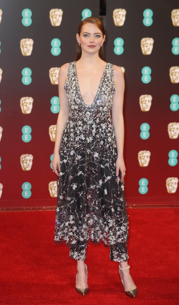 Emma Stone no BAFTA (Foto: Agência Getty Images)