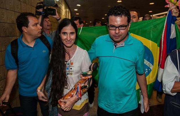 Yoani Sánchez chega ao Brasil (Foto: Agência EFE)