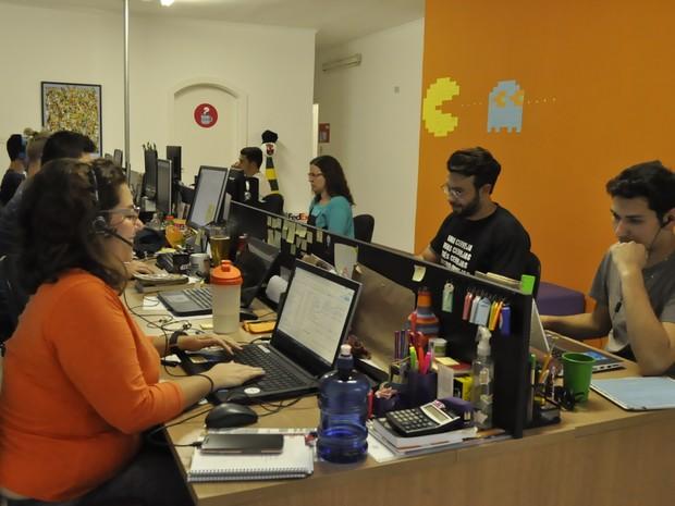 Clube de assinatura de livros infantis quer se tornar referência em Poços de Caldas (MG). (Foto: Lúcia Ribeiro/G1)