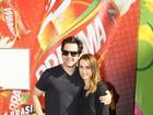 Murilo Benício comemora aniversário no Maracanã com Débora Falabella