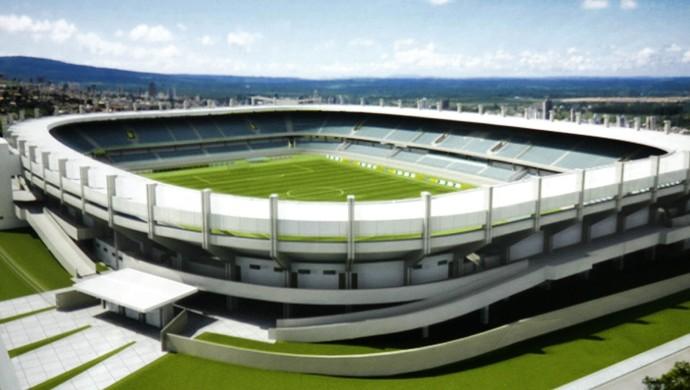 Maquete do novo Estádio Colosso do Tapajós (Foto: Divulgação)