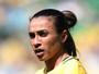 Duelo de artilheiras: Brasil x Canadá opõe as lendas Marta e Sinclair