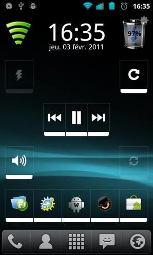 Widgetsoid2.x, personalização para Android