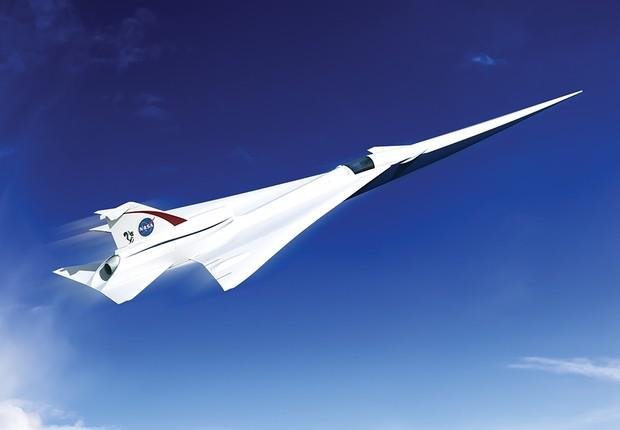 Conceito de avião supersônico da NASA (Foto: NASA)