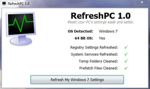 RefreshPC, correção de erros para Windows