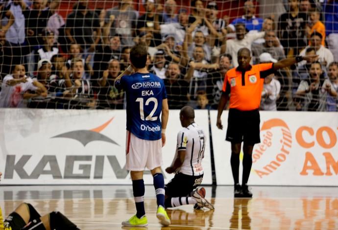 Nenê Corinthians Joinville quartas de final liga nacional de futsal (Foto: Divulgação/Agência Corinthians)