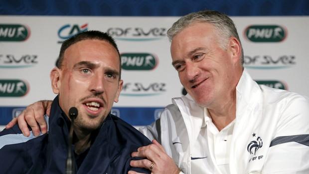 Ribéry Deschamps França (Foto: AP)