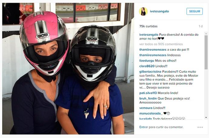 Ivete e Marcelinho de férias (Foto: Arquivo Pessoal)