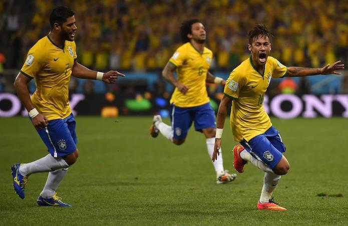 Gol de empate do Brasil marcado pelo craque Neymar (Foto: Divulgação/FIFA)