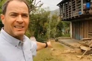 Reporter Clayton Conservani no Nepal (Foto: Reprodução/Globonews)