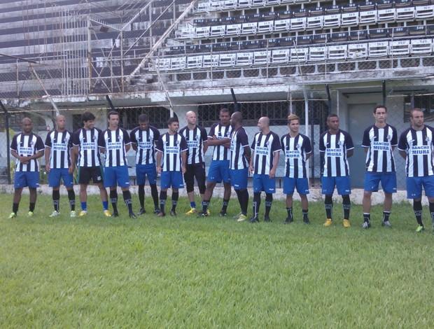 Novos jogadores foram apresentados nessa terça-feira (Foto: Maria Freitas/Globoesporte.com)
