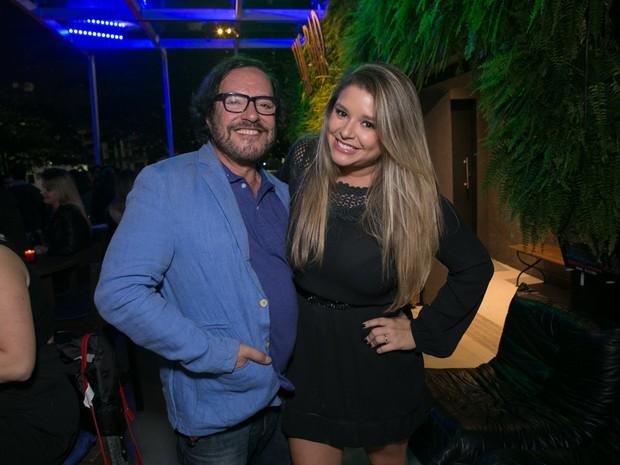 Wolf Maya e a filha Manu Maya em festa no Rio (Foto: Raphael Mesquita/ Divulgação)