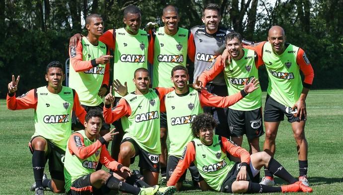 Jogadores do Atlético-MG participaram de um animado rachão no CT do São Paulo (Foto: Bruno Cantini /Flickr do Atlético-MG)