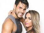 Nicole Bahls e Marcelo Bimbi posam juntinhos para campanha fitness