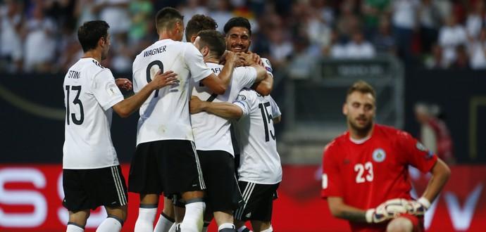 Comemoração Alemanha x San Marino (Foto: Reuters)