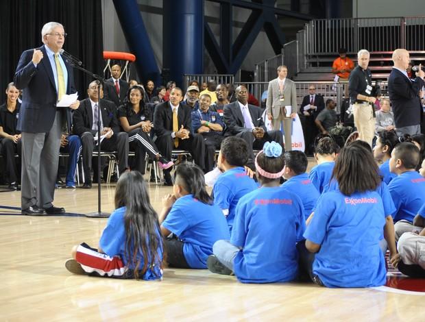 David Stern dirigente da NBA (Foto: João Gabriel Rodrigues)