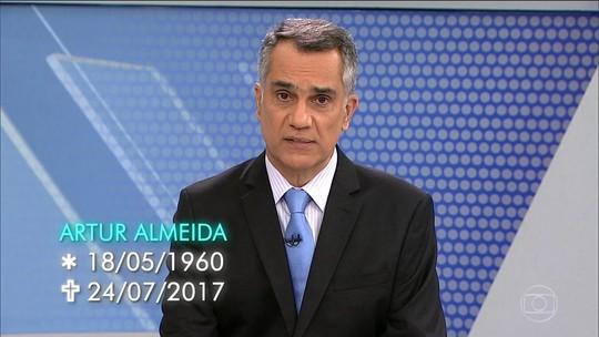 Morre o jornalista Artur Almeida, apresentador do MGTV