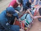 Rapaz fica ferido após cair durante escalada  (Corpo de Bombeiros/Divulgação)