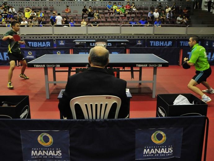 Circuito mundial de tênis de mesa em Manaus (Foto: Antônio Lima/Semdej)