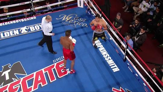 Pérez torce pé no início, Yamaguchi vence e assegura o cinturão latino