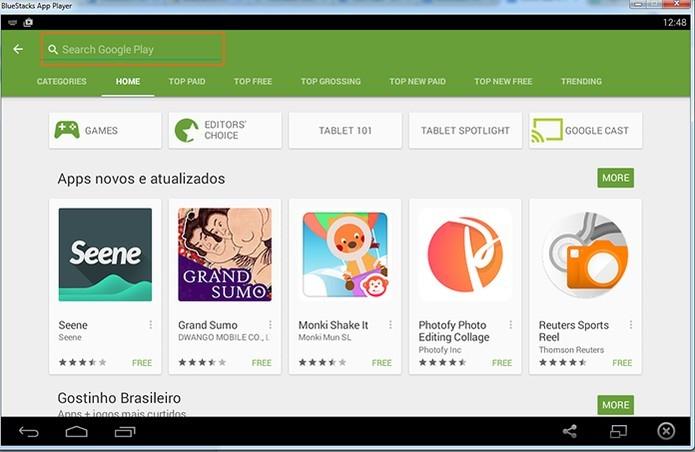 Bluestacks instala a Google Play Store no PC (Foto: Reprodução/Barbara Mannara)