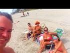 Susana Vieira curte praia com ex e atual nora nos Estados Unidos