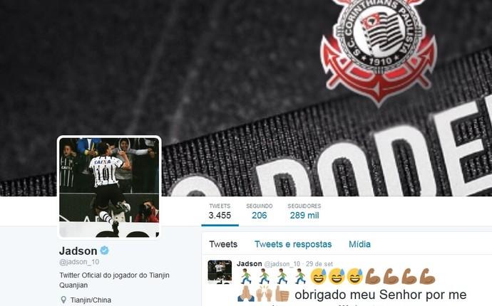 Jadson troca foto em rede social, e torcida pede retorno ao Corinthians