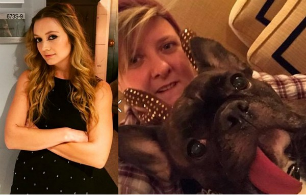 A atriz Billie Lourd e a secretária de Carrie Fisher com o cãozinho Gary (Foto: Instagram)