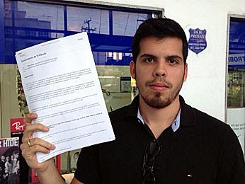 Diego Lima, formando de medicina da Univasf (Foto: Débora Soares / G1)