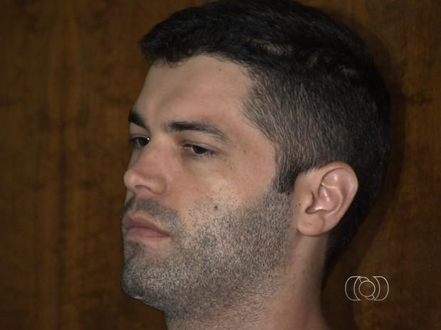1º júri popular do suposto serial killer Tiago Henrique em Goiânia, Goiás (Foto: Reprodução/TV Anhanguera)