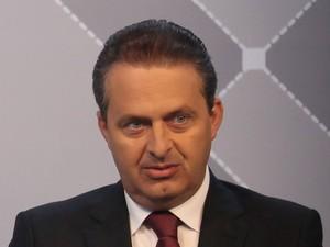 Eduardo Campos em entrevista ao G1, que foi transmitida ao vivo na segunda-feira (11) (Foto: Caio Kenji/G1)