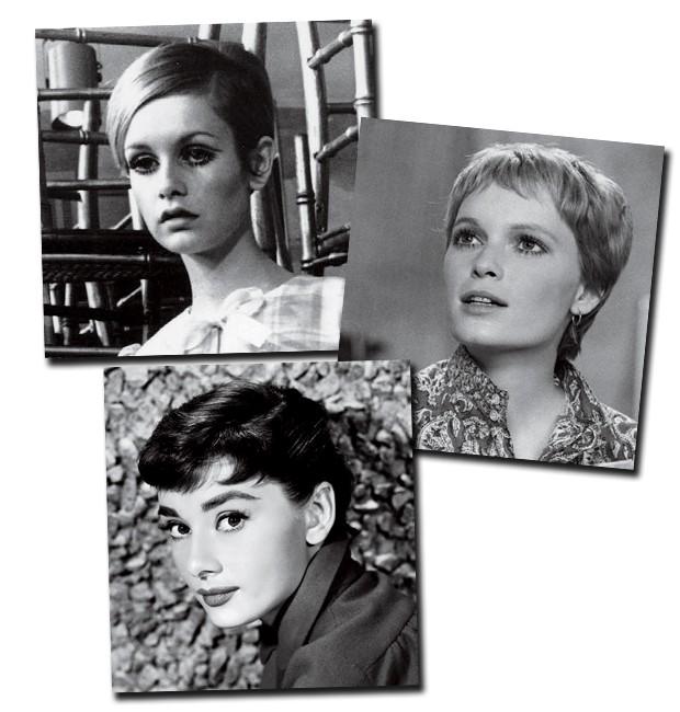 Adeus à inocência: Além dos cílios de boneca, Twiggy virou sinônimo de pixie hair nos anos 60, assim como Mia Farrow. Audrey Hepburn foi quem lançou a moda capilar na década de 50 (Foto:  )