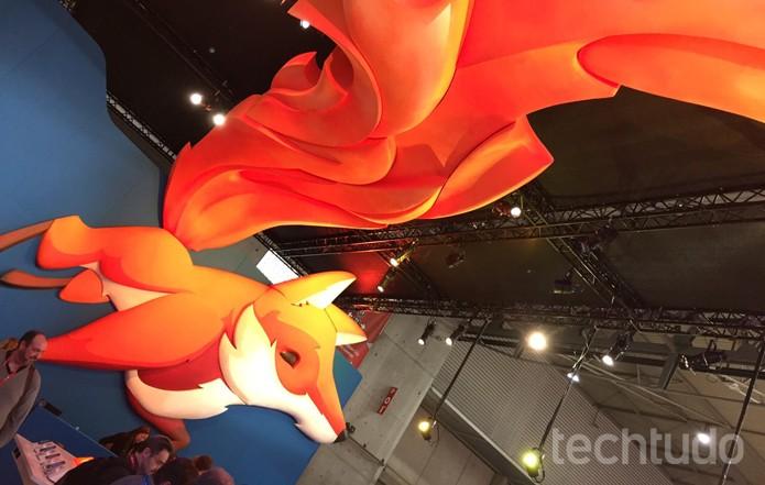 Stand da Mozilla para o Firefox OS na Mobile World Congress 2015, em Barcelona (Foto: Fabricio Vitorino / TechTudo)