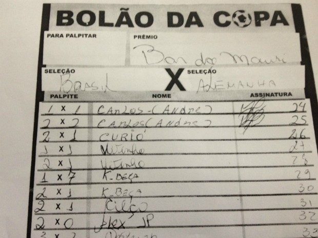 K-beça, como Silva é chamado pelos amigos, apostou também em 2 a 1 para o Brasil (Foto: Cícero Bittencourt / RPC TV)